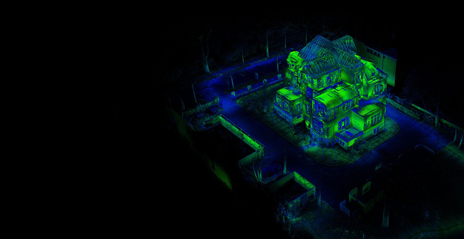 3D laser punktwolke für Real Estate Mapping