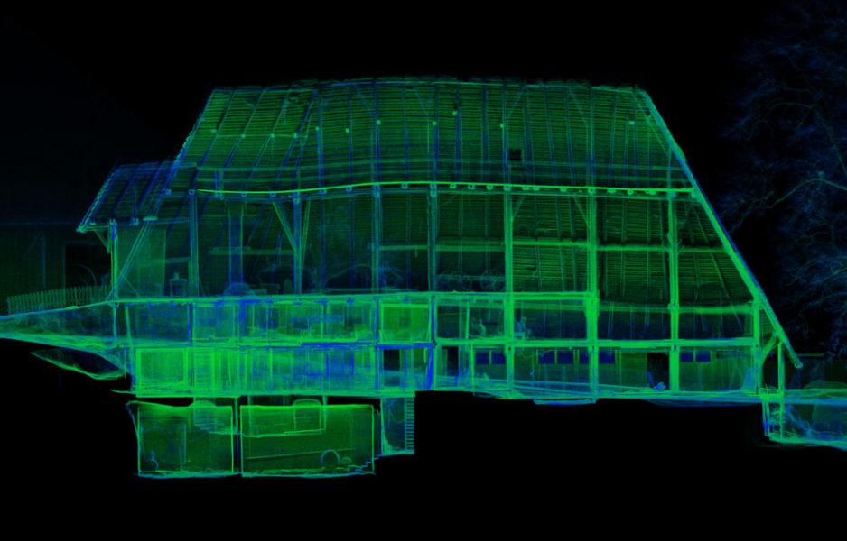 Laserpunktwolke-Immobilie-Aufmass