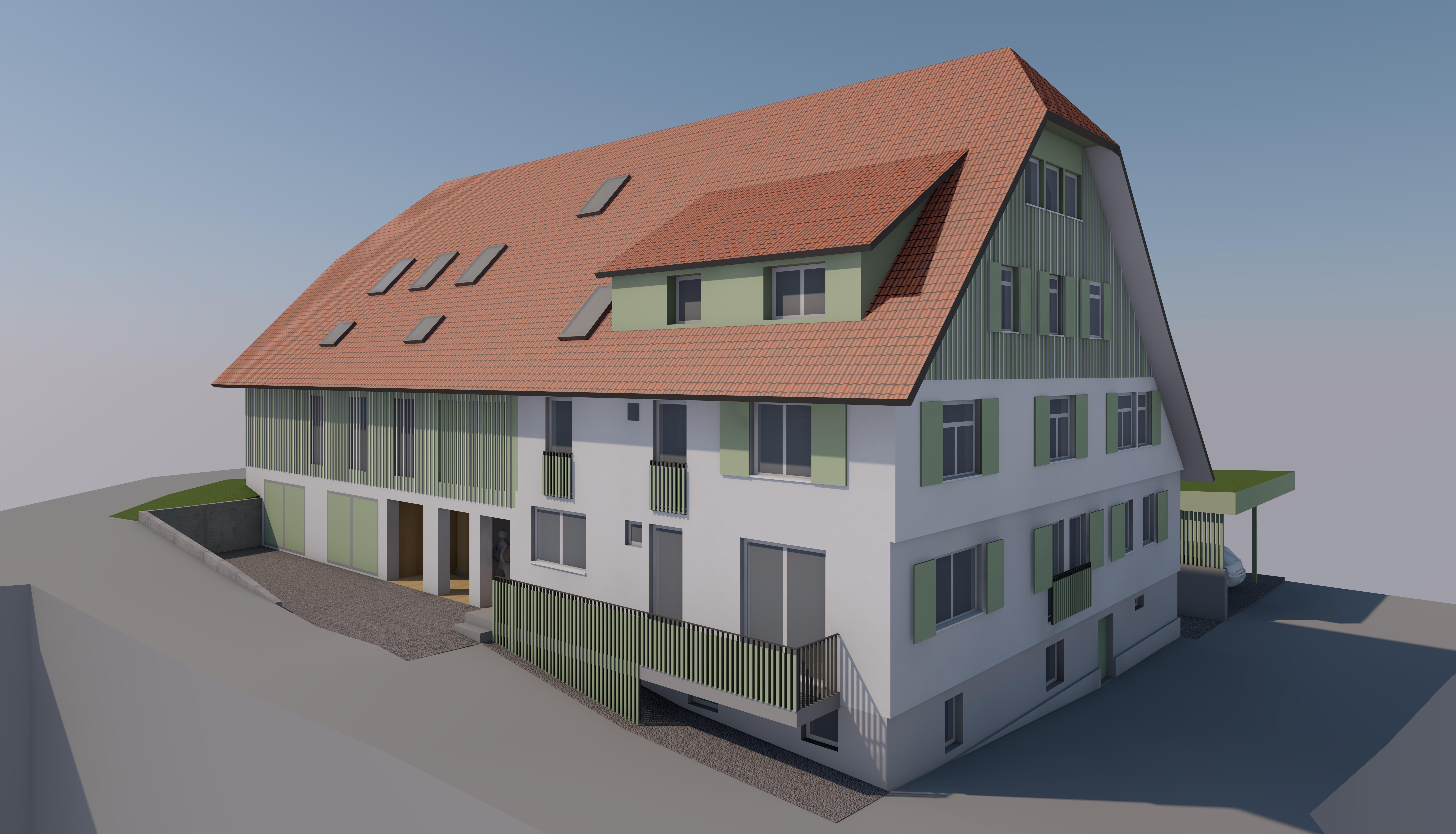 Schwarzwaldhof-CAD-Modell