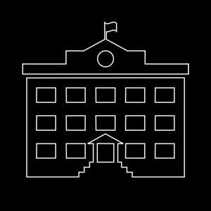 Ikone eines Gebäudes