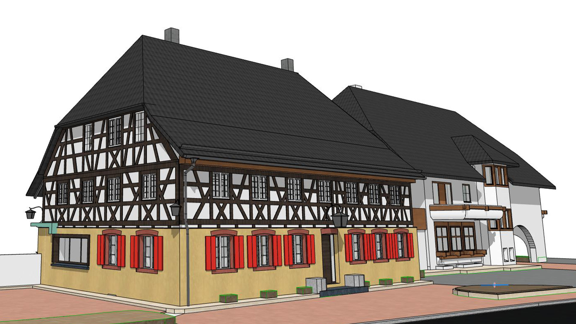 3D Bild von einem Haus mit CAD program gemacht