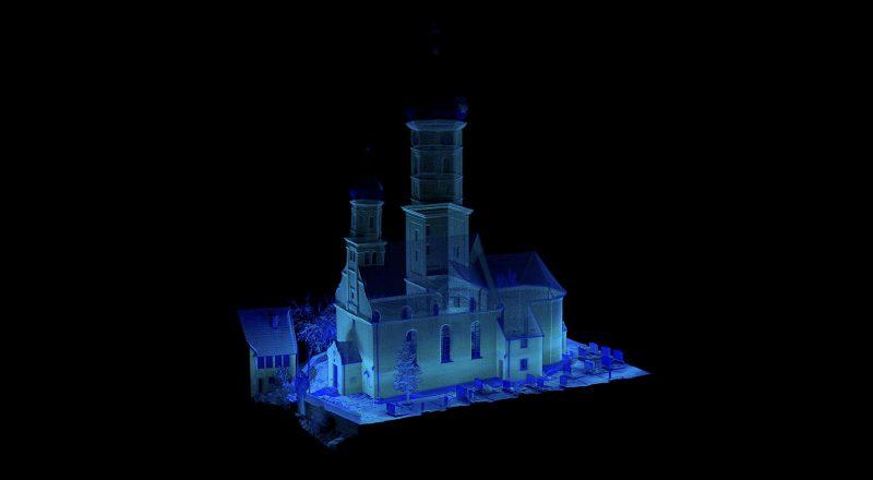 3D laser Punktwolke von Kirche